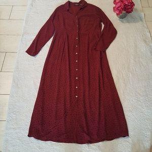 Vintage boho Eddie Bauer floral print maxi dress